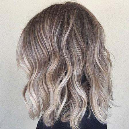 Blonde Hair Ash Balayage