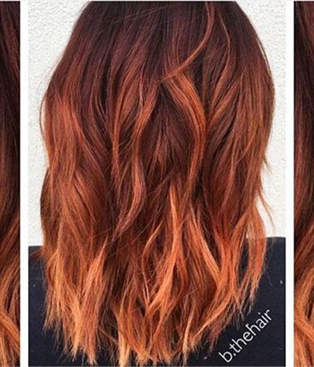 Hair Red Lob Auburn