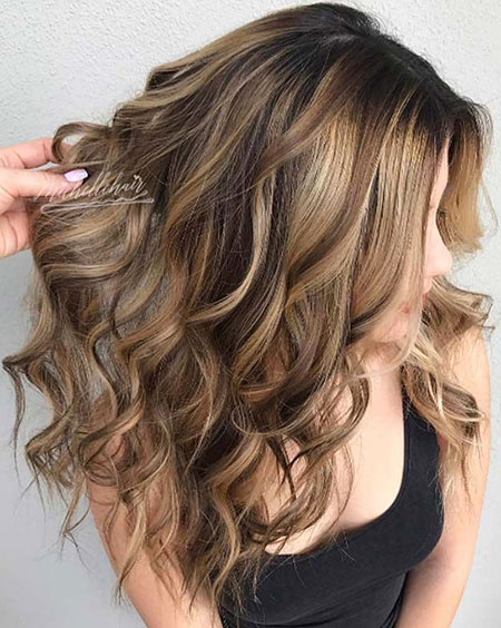 Hair Balayage Brown Highlights
