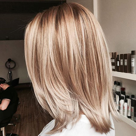Blonde Hair Balayage Highlights