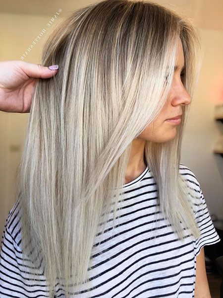Blonde Hair Balayage Platinum