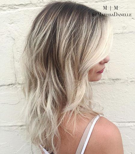 Balayage Blonde Hair Ash