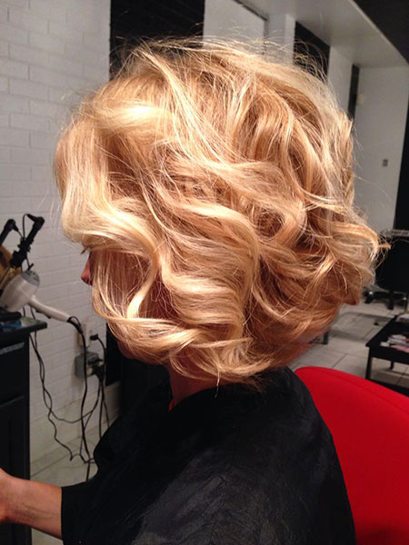Blonde Length Hairtyles Curly