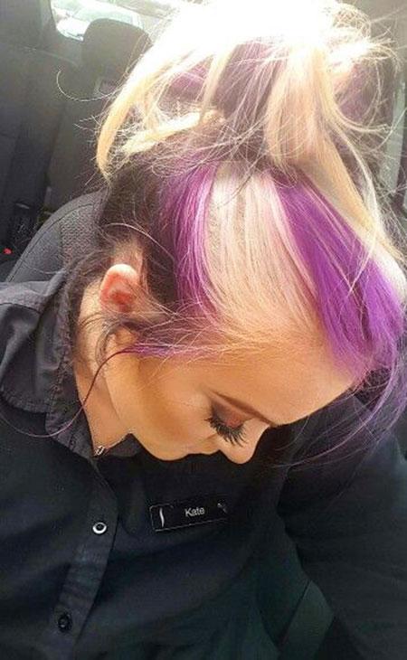 Hair Purple Blonde Black