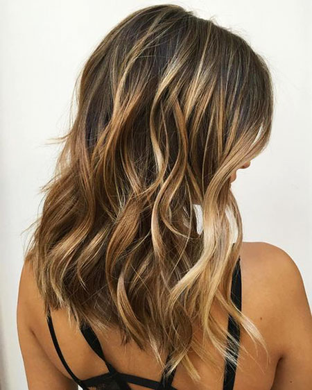 Caramel Blonde Balayage in Brown Hair, Blonde Balayage Caramel Hair