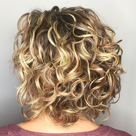 Concave Curly Bob, Curly Bob Bronde Blonde