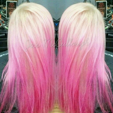 Pink Hair, Hair Pink White Ombre