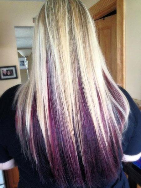 Purple Blonde Balayage, Hair Purple Blonde Coloring