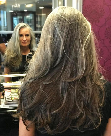 Natural Grey and Ashy Blonde Hair, Hair Blonde Ash Long