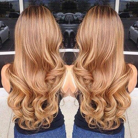 Golden Brown Caramel, Blonde Hair Color Caramel