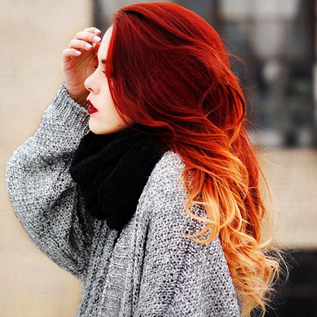 Melt Color, Hair Red Ombre Hairtyles