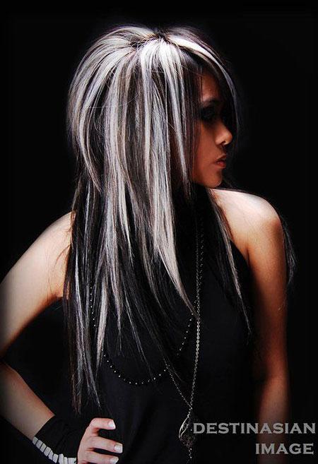 Blonde Highlights Hair Black