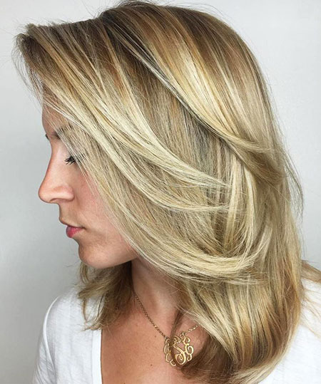 Balayage Blonde Hairtyles Medium
