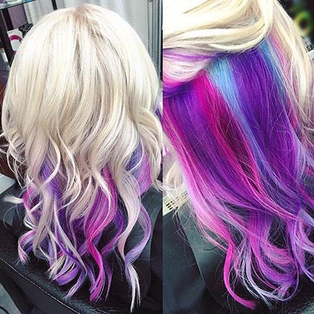Hair Purple Pink Rock