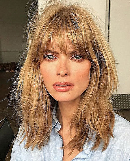 Hair Hairtyles Bangs Medium