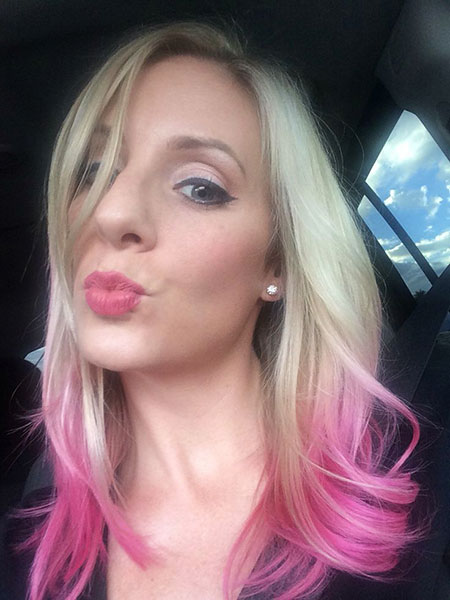 Hair Pink Ombre Blonde
