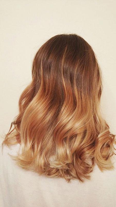 Blonde Hair Honey Balayage