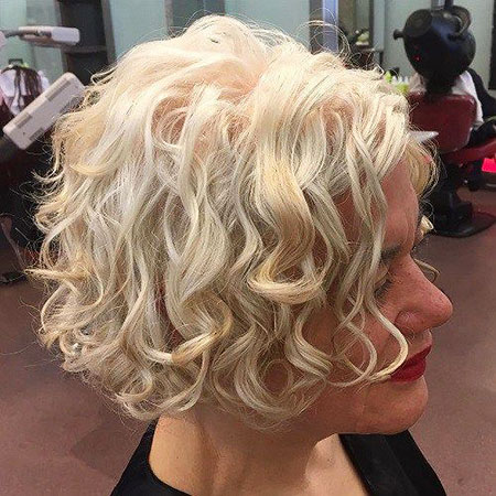 Curly Blonde Bobs Length