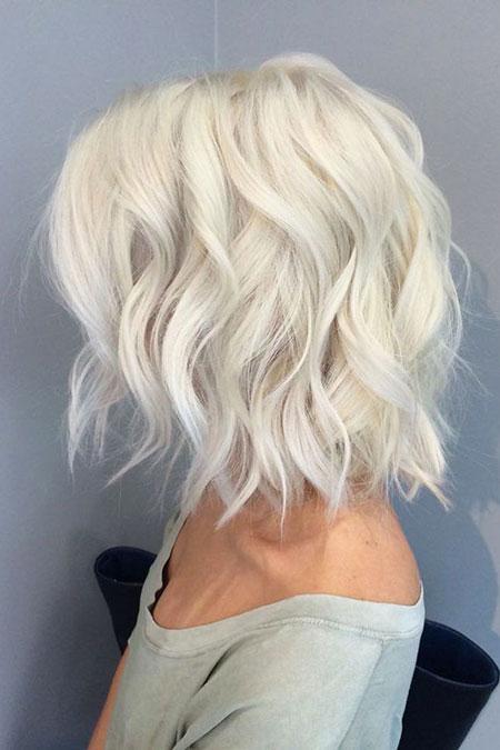 Blonde Hairtyles Bob Wavy