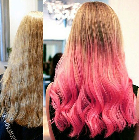 Hair Pink Color Blonde
