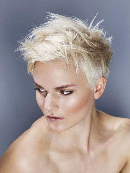 Pixie Blonde Hair Short