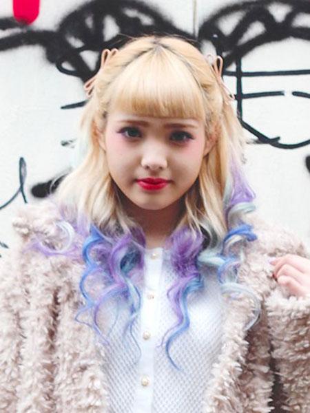 Hair Purple Coloring Hani