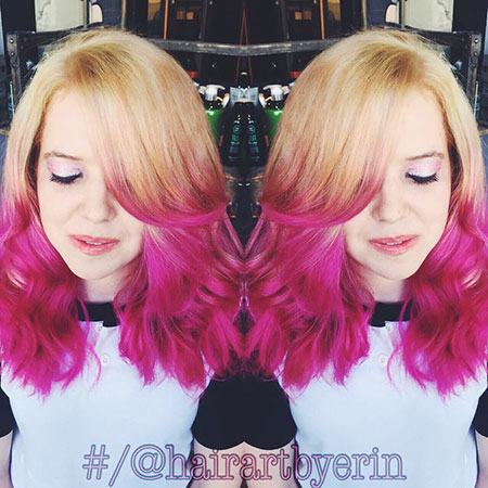 Hair Pink Edgy Fun
