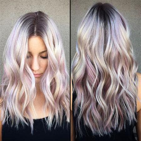 Pale Purple Ombre, Hair Blonde Purple Madison