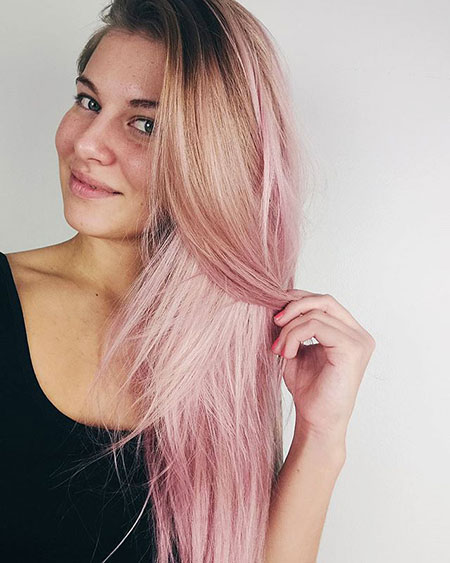 Soft Pink Ombre, Hair Pink Capelli Some