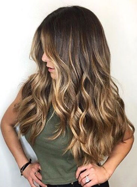 Brown Hair with Blonde Balayage, Balayage Hair Color Brunette