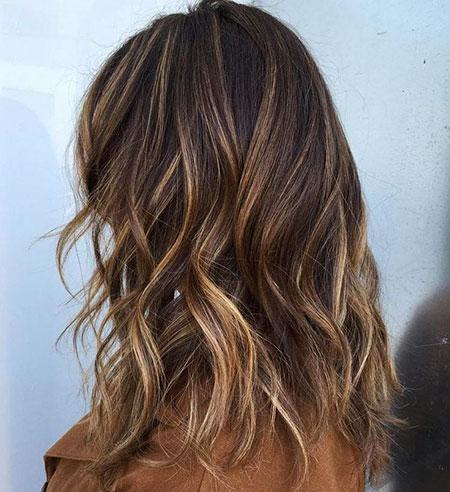 Dark Brown Hair with Blonde, Blonde Highlights Hair Brown