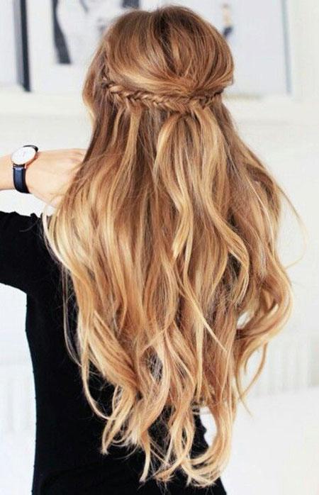 Half Up Half Down, Half Hairtyles Hair Up