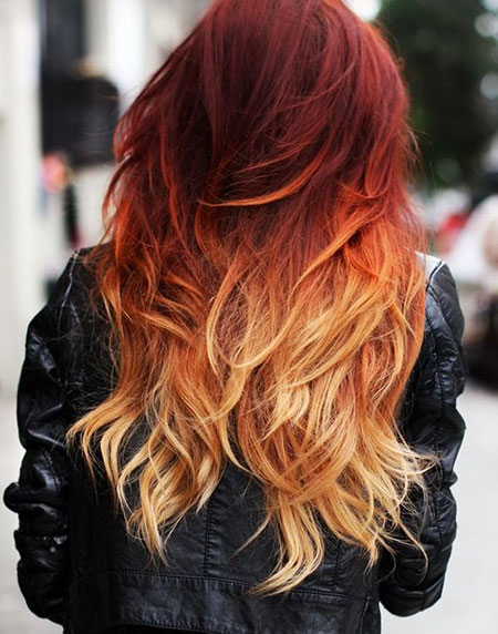 Dark Red Blonde Ombre, Hair Red Ombre Blonde