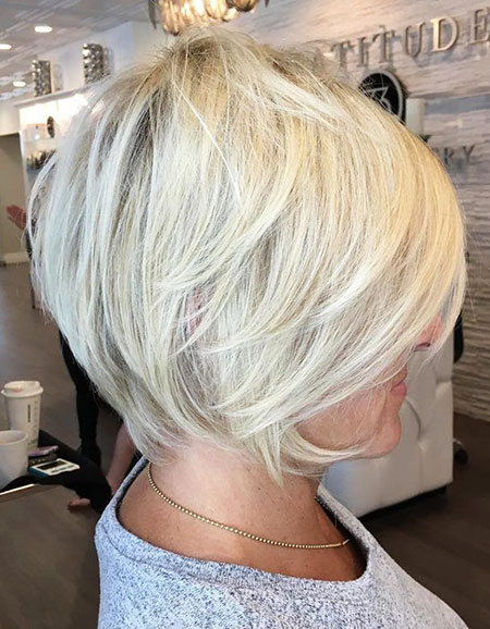 Short Bob Blonde Color, Blonde Bob Pixie Layered
