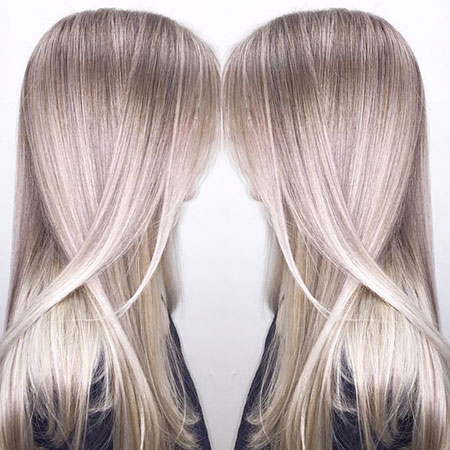 Bright Ashy Blonde Balayage, Blonde Balayage Hair Ash