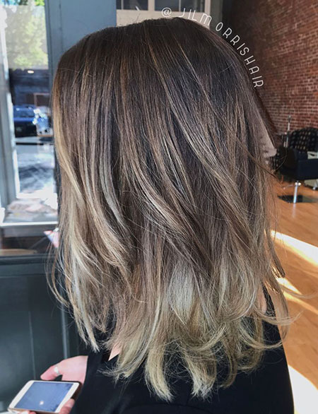 Ashy Blonde Highlights, Blonde Ash Balayage Hair