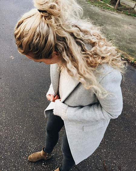 Simple Half Bun, Fashion Hair Style Clothes