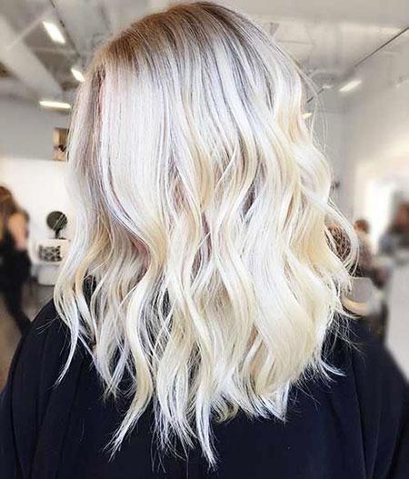 Platinum Blonde Medium Short Hair, Blonde Hairtyles Rai Aishwarya