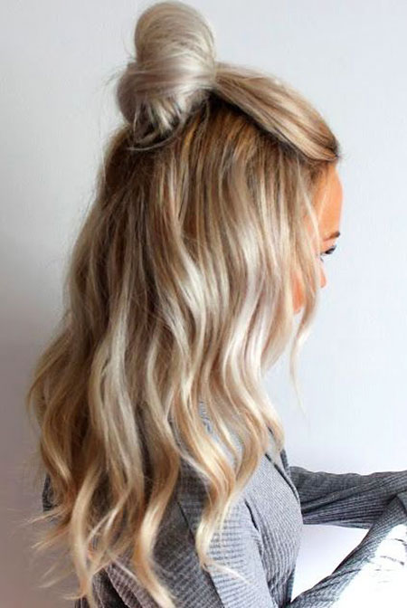Trendy Updo, Blonde Hair Hairtyles Balayage