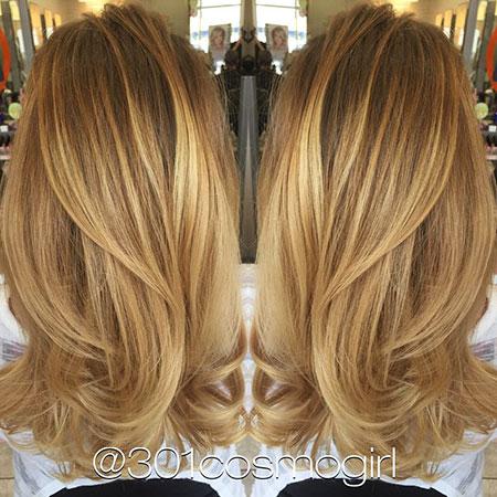 Blonde Caramel Balayage Hair