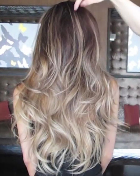 Blonde Hair Ash Balayage