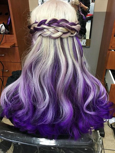 Hair Purple Blonde Hairtyles