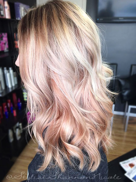 Rose Gold Hair Blonde