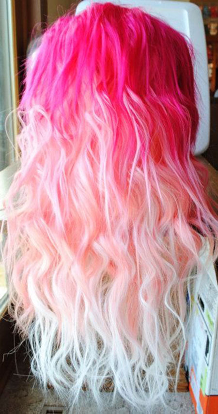 Hair Ombre Pink Up