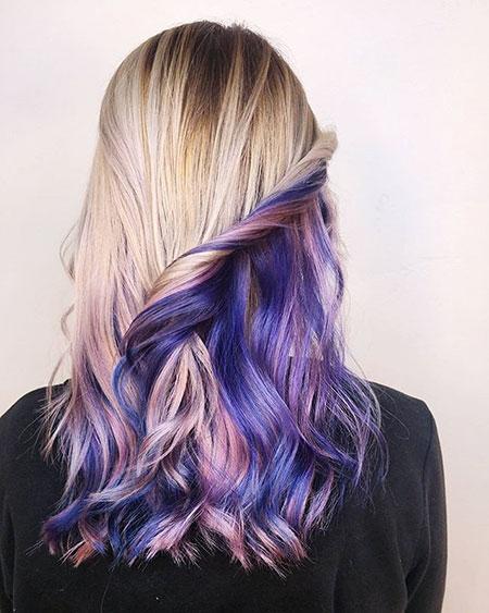 Hair Purple Blonde Ashy