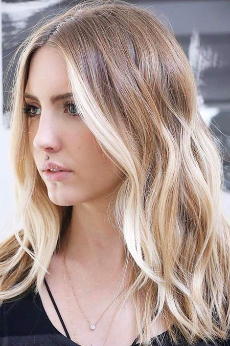 Blonde Hair Balayage Ombre