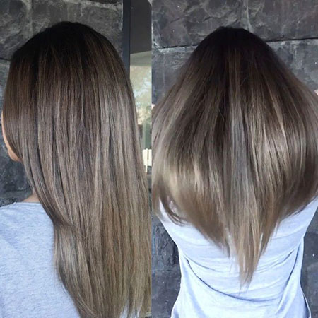 Ash Balayage Hair Dark