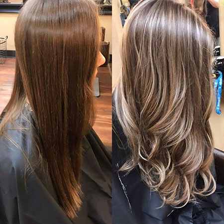 Hair Blonde Highlights Brown