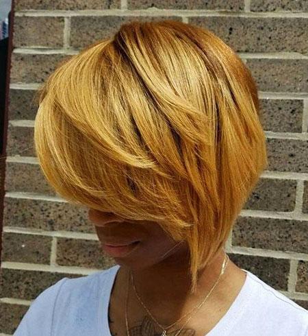 Blonde Layered 50 Bob