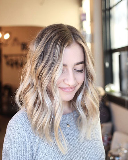 Blonde Low Balayage Lob